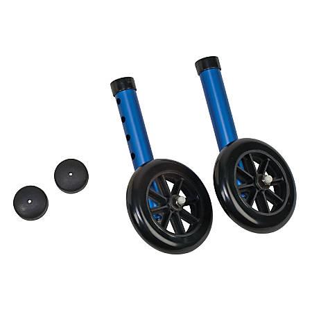 DMI® Walker Wheels With Glide Cap Kit, Blue
