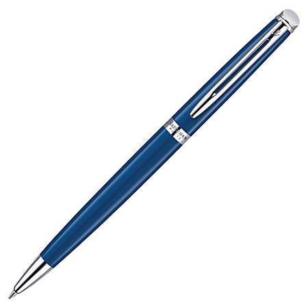 Waterman® Hemisphere Ballpoint Pen, Fine Point, 0.8 mm, Blue/Silver Barrel, Blue Ink