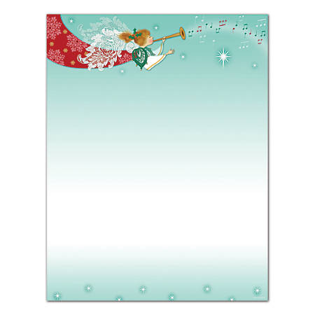 "Great Papers!® Holiday Stationery, 8 1/2"" x 11"", Herald Angels, Pack Of 80 Sheets"