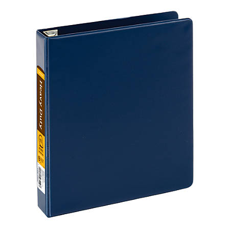 """Office Depot® Brand Heavy-Duty D-Ring Binder, 1 1/2"""" Rings, 59% Recycled, Navy"""