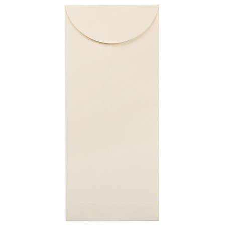 "JAM Paper® Open-End Policy Envelopes, #12, 4 3/4"" x 11"", Strathmore Natural White, Pack Of 25"