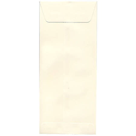 "JAM Paper® Open-End Policy Envelopes, #14, 5"" x 11 1/2"", Strathmore Natural White, Pack Of 25"