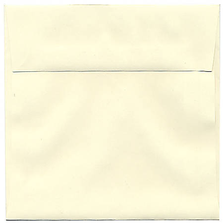 """JAM Paper® Strathmore Invitation Envelopes, 6"""" x 6"""", Natural White, Pack Of 25"""