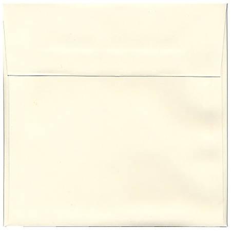 """JAM Paper® Strathmore Invitation Envelopes, 8 1/2"""" x 8 1/2"""", Natural White, Pack Of 25"""