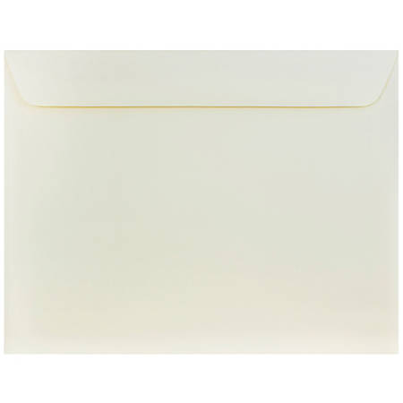 """JAM Paper® Booklet Strathmore Wove Envelopes, 10"""" x 13"""", Strathmore Natural White, Pack Of 25"""