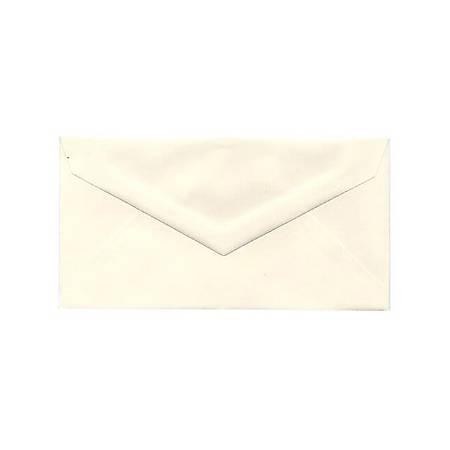 """JAM Paper® Booklet Envelopes, #7 3/4 Monarch, V-Flap, 3 7/8"""" x 7 1/2"""", Strathmore Natural White, Pack Of 25"""