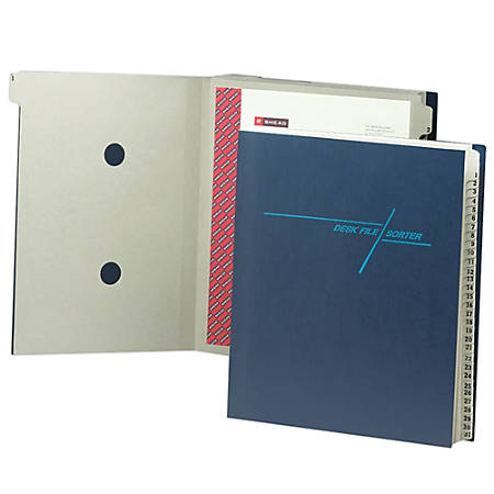 Smead® Desk File/Sorter, 1-31, Letter Size, 35% Recycled, Blue/Gray