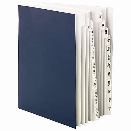 Smead® Desk File/Sorter, 1-31/January-December, Letter Size, 35% Recycled, Blue/Gray