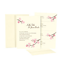 Great papers blossom branches invitation kit 50pk by for Wedding invitations kits office depot