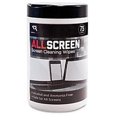 Advantus ReadRight AllScreen Screen Cleaning Wipes