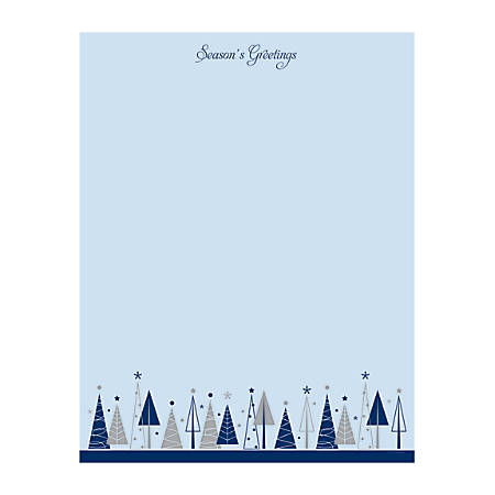 "Great Papers!® Holiday-Themed Foil Letterhead Paper, 8 1/2"" x 11"", Triangle Trees, Pack Of 40 Sheets"