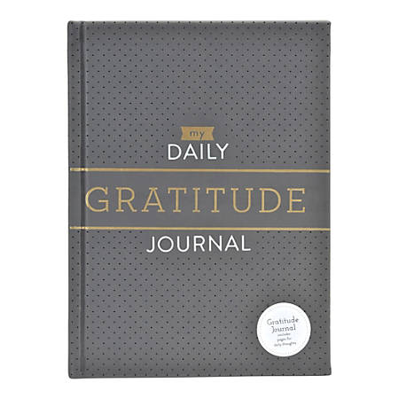 "Eccolo™ Design Print Journal, Gratitude, Ruled, 4"" x 6"", Gray/Turquoise"