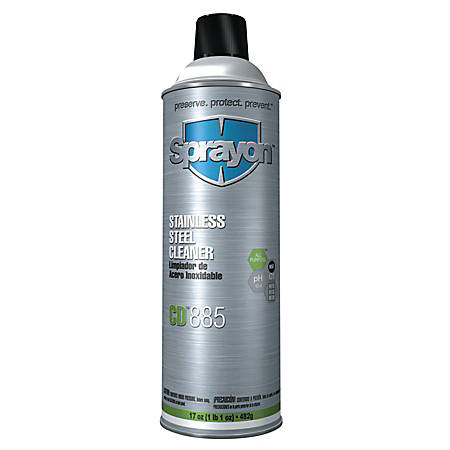 Sprayon® Stainless-Steel Cleaners, Citrus, 17 Oz, Case Of 12 Cans