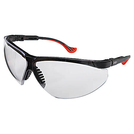XC TWO SHOT SAFETY GLASSES BLACK FRAME MIRROR LE