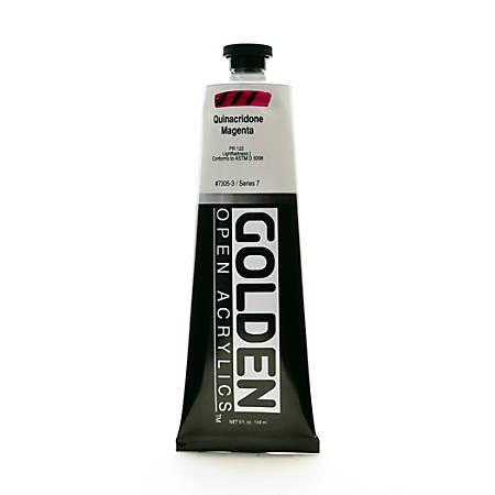 Golden OPEN Acrylic Paint, 5 Oz Tube, Quinacridone Magenta