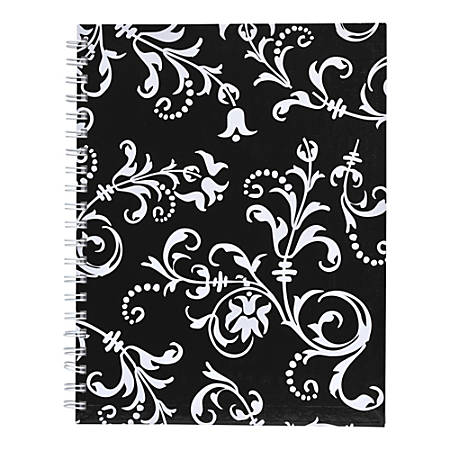"""Eccolo™ Wiro Journal, 6"""" x 8"""", Ruled, 200 Pages, Black/White"""