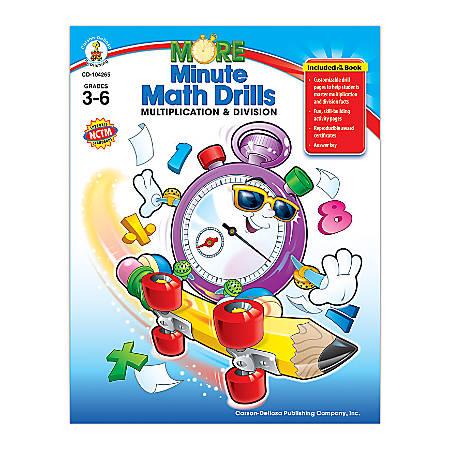 Carson-Dellosa More Minute Math Drills, Multiply/Divide