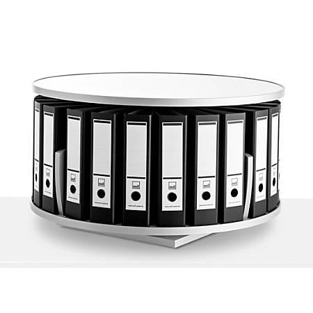 Moll Deluxe Desktop Binder And File Carousel Shelving, White