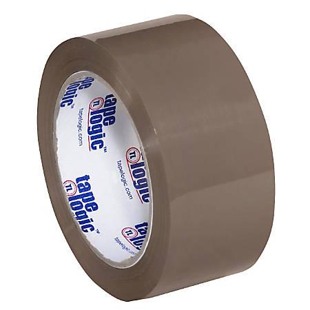 "Tape Logic® #600 Hot Melt Tape, 2"" x 110 Yd., Tan, Case Of 36"