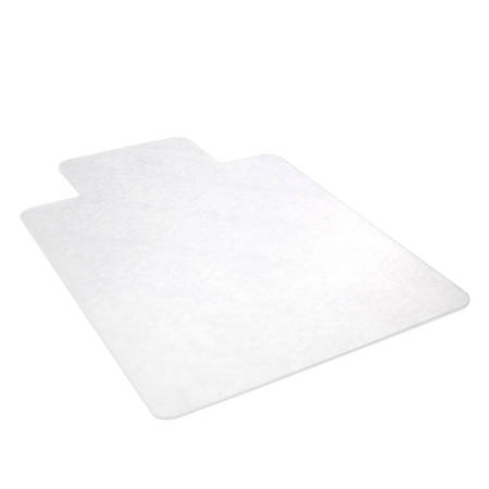"Deflect-O Earth Source® Chair Mat For Hard Floors, Wide Lip, 45"" x 53"" With Lip, Clear"