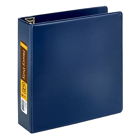 """Office Depot® Brand Heavy-Duty D-Ring Binder, 3"""" Rings, 59% Recycled, Navy"""