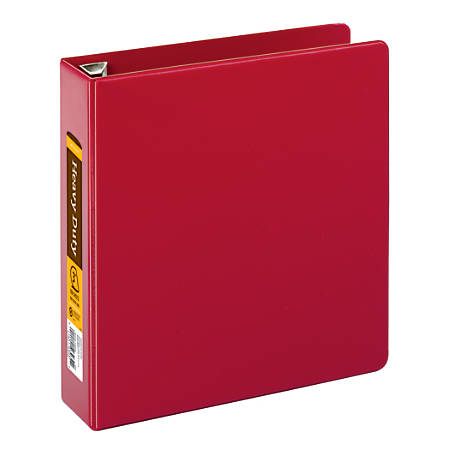 "Office Depot® Brand Heavy-Duty D-Ring Binder, 3"" Rings, 59% Recycled, Dark Red"