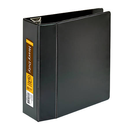 "Office Depot® Brand Heavy-Duty D-Ring Binder, 4"" Rings, 59% Recycled, Black"