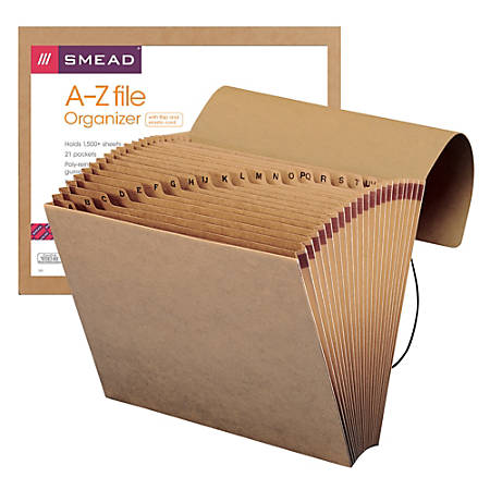 Smead® Recycled Kraft Expanding File With Flap, A-Z, Letter Size, Brown