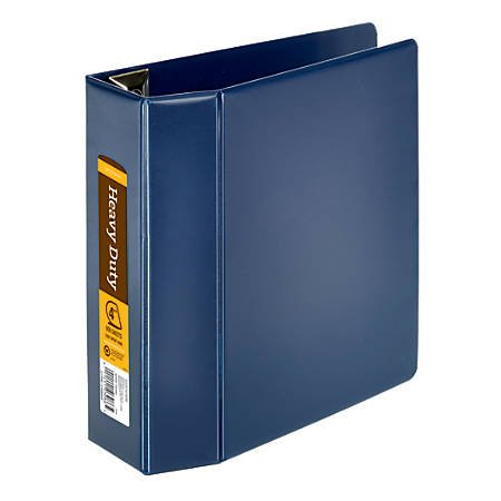 "Office Depot® Brand Heavy-Duty D-Ring Binder, 4"" Rings, 59% Recycled, Navy"