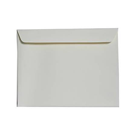 """JAM Paper® Booklet Strathmore Wove Envelopes, 9"""" x 12"""", Strathmore Ivory, Pack Of 25"""