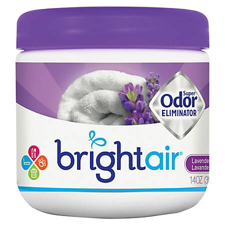 BRIGHT Air® Super Odor™ Eliminator Gel, 14 Oz., Lavender & Fresh Linen