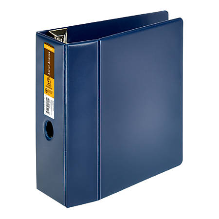 """Office Depot® Brand Heavy-Duty D-Ring Binder, 5"""" Rings, 59% Recycled, Navy"""
