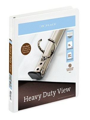 office depot brand heavy duty easy open round ring view binder 12