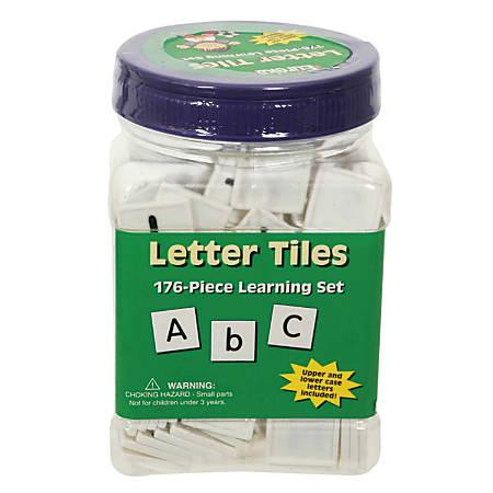 Eureka Tub of Letter Tiles, Upper And Lower Case, Pack Of 176