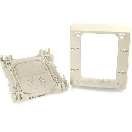 C2G Wiremold Uniduct Double Gang Deep Junction Box - Ivory