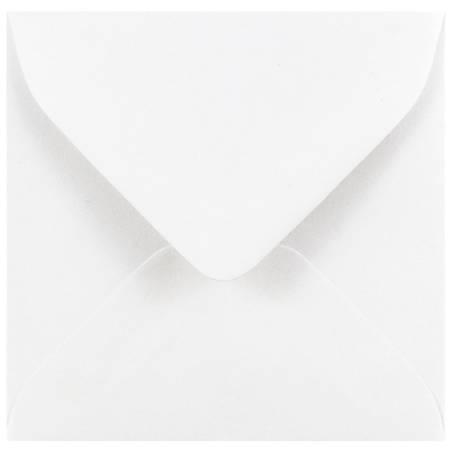 """JAM Paper® Small Mini Envelopes, 3 1/8"""" x 3 1/8"""", White, Pack Of 25"""
