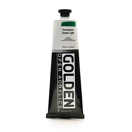 Golden OPEN Acrylic Paint, 5 Oz Tube, Permanent Green Light