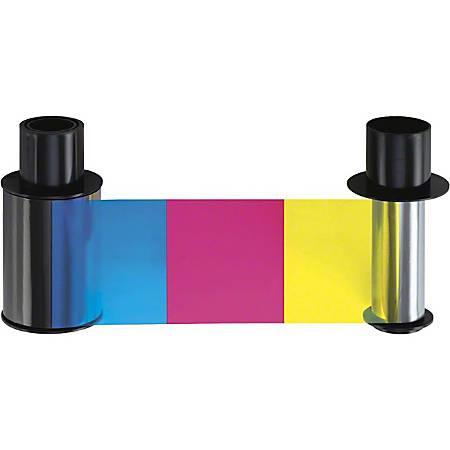 Fargo Ribbon Cartridge - YMCKO - Dye Sublimation, Thermal Transfer - 500 Images Box