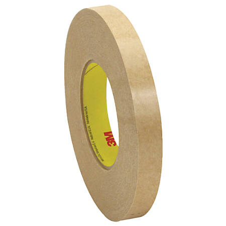 """3M™ 9498 Adhesive Transfer Tape Hand Rolls, 3"""" Core, 0.75"""" x 120 Yd., Clear, Case Of 48"""