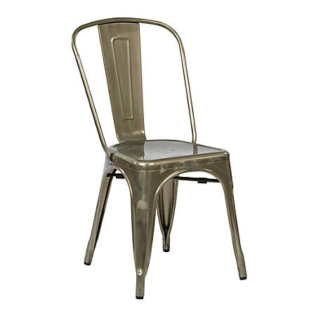 Office Star™ Bristow Armless Chair, Gunmetal, Set Of 2 Chairs