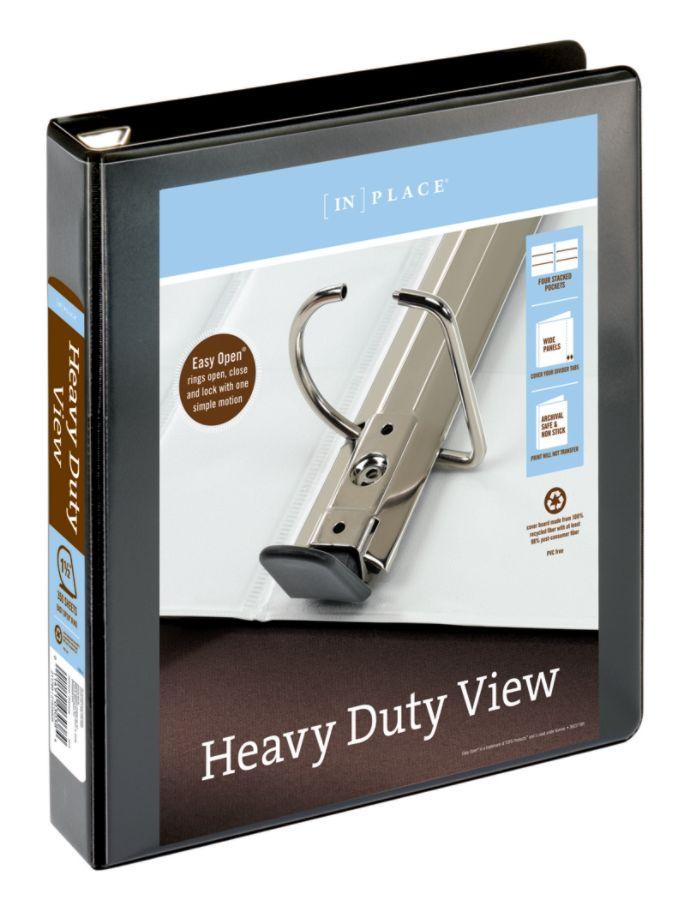 "24690 Staples Heavy Duty 3/"" 3-Ring View Binder Black 82669"