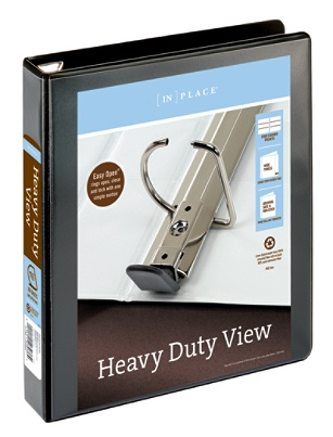 Office Depot Brand Heavy Duty D Ring View Binder 1 12 Rings 54percent Recycled Black By Officemax