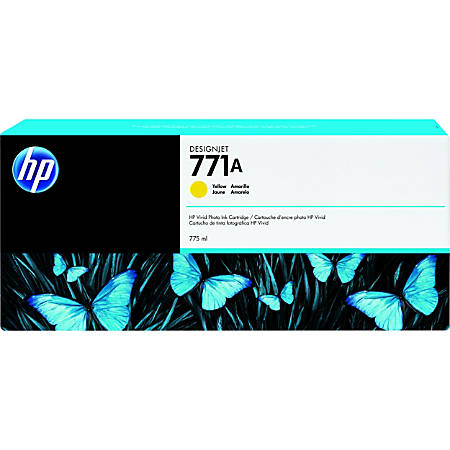 HP 771A Tri-pack - 3-pack - 775 ml - yellow - original - ink cartridge - for DesignJet Z6200, Z6600, Z6610, Z6800, Z6810