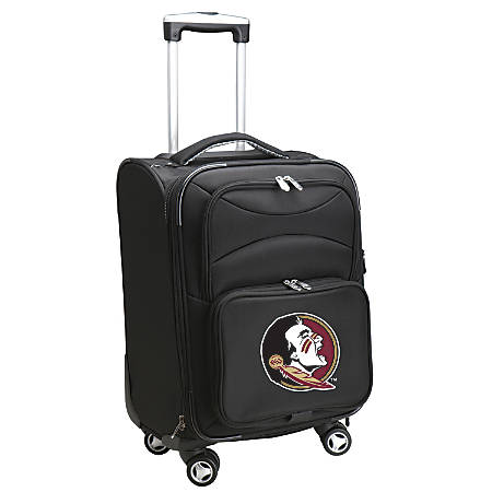 "Denco ABS Upright Rolling Carry-On Luggage, 21""H x 13""W x 9""D, Florida State Seminoles, Black"