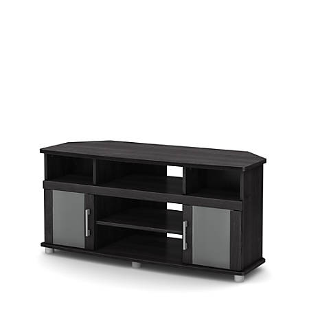 """South Shore City Life Corner TV Stands For Televisions Up To 50"""", Gray Oak"""