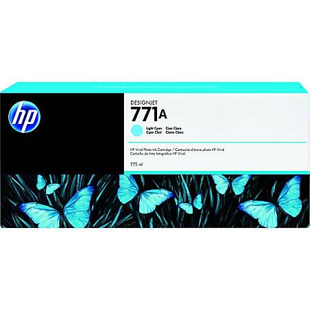 HP 771A Ink Cartridge - Light Cyan - Inkjet - 3 / Pack