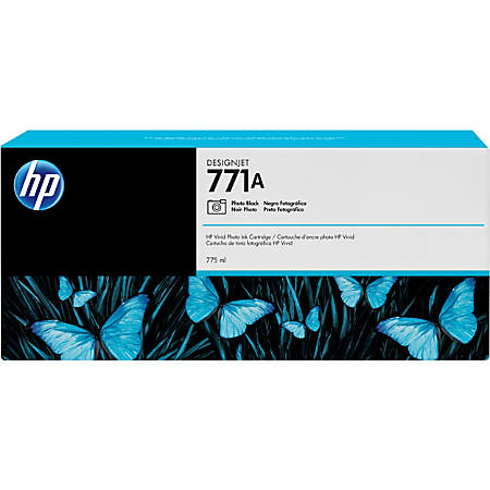 HP 771A Ink Cartridge - Photo Black - Inkjet - 3 / Pack