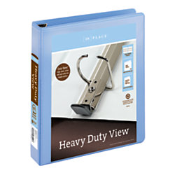 """Office Depot® Brand Heavy-Duty D-Ring View Binder, 1 1/2"""" Rings, 54% Recycled, Periwinkle"""