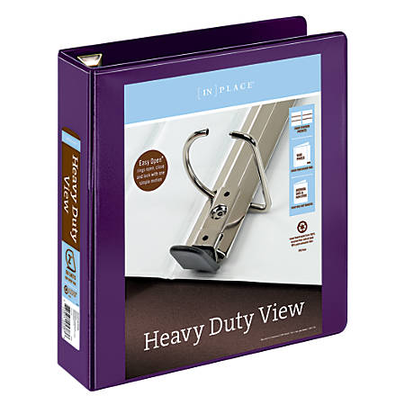 """Office Depot® Brand Heavy-Duty D-Ring View Binder, 2"""" Rings, 54% Recycled, Purple"""