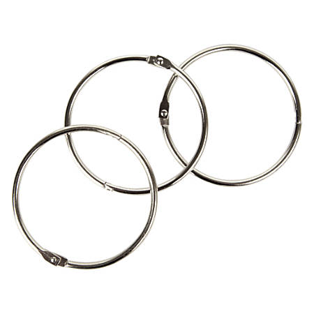 """Office Depot® Brand Binder Rings, 3"""", Silver, Pack Of 10"""